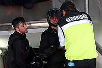 4th February 2020; National Stadium of Chile, Santiago, Chile; Libertadores Cup, Universidade de Chile versus Internacional; Police officers injured in the clashes with fans of Universidad de Chile