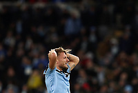 Football, Serie A: S.S. Lazio - Hellas Verona, Olympic stadium, Rome, February 5, 2020. <br /> Lazio's Ciro Immobile reacts during the Italian Serie A football match between S.S. Lazio and Hellas Verona at Rome's Olympic stadium, Rome, on February 5, 2020. <br /> UPDATE IMAGES PRESS/Isabella Bonotto