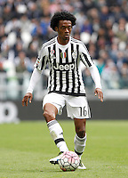 Calcio, Serie A: Juventus vs Carpi. Torino, Juventus Stadium, 1 maggio 2016.<br /> Juventus' Juan Cuadrado in action during the Italian Serie A football match between Juventus and Carpi at Turin's Juventus Stadium, 1 May 2016.<br /> UPDATE IMAGES PRESS/Isabella Bonotto