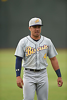 ***Temporary Unedited Reference File***Montgomery Biscuits second baseman Kean Wong (4) during a game against the Chattanooga Lookouts on May 2, 2016 at AT&T Field in Chattanooga, Tennessee.  Chattanooga defeated Montgomery 9-6.  (Mike Janes/Four Seam Images)