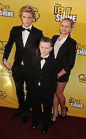 LOS ANGELES, CA - JUNE 05: Cody Simpson, Tom Simpson and Alli Simpson attend Disney's 'Let It Shine' Premiere held at The Directors Guild Of America on June 5, 2012 in Los Angeles, California.