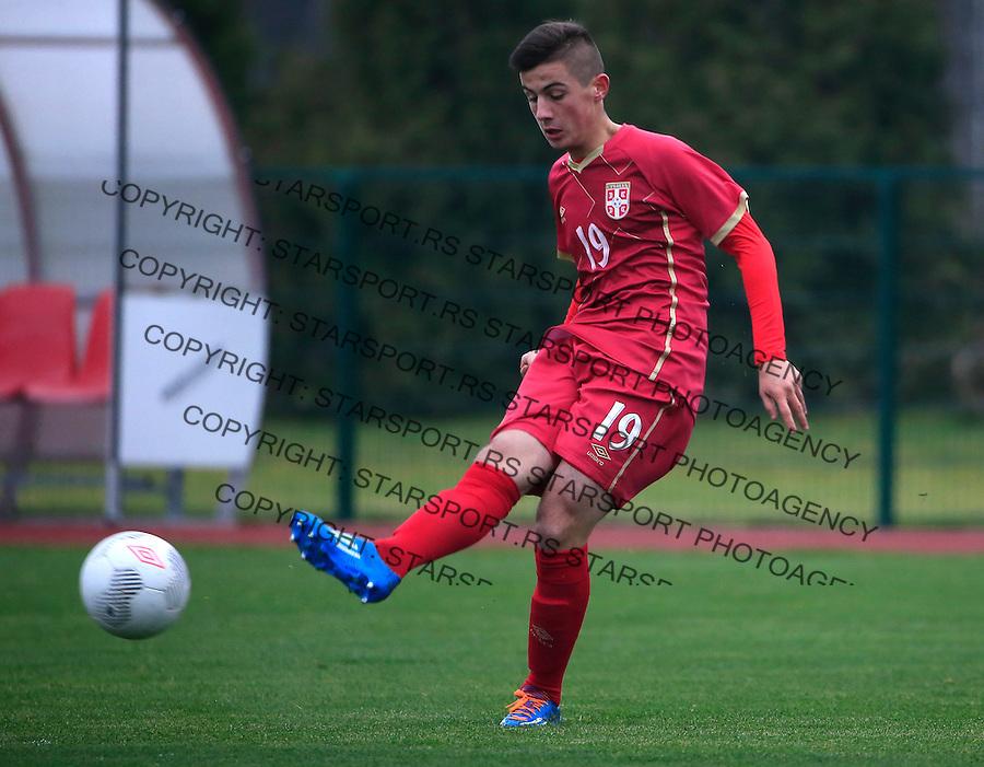 Fudbal soccer friendly match<br /> Srbija U17 v Madjarska U17<br /> Armin Djerlek<br /> Stara Pazova, 08.12.2015.<br /> foto: Srdjan Stevanovic/Starsportphoto &copy;