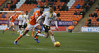 Burton Albion's Jake Hesketh shields the ball from Blackpool's Curtis Tilt<br /> <br /> Photographer Stephen White/CameraSport<br /> <br /> The EFL Sky Bet League One - Blackpool v Burton Albion - Saturday 24th November 2018 - Bloomfield Road - Blackpool<br /> <br /> World Copyright © 2018 CameraSport. All rights reserved. 43 Linden Ave. Countesthorpe. Leicester. England. LE8 5PG - Tel: +44 (0) 116 277 4147 - admin@camerasport.com - www.camerasport.com