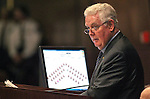 Nevada Assembly Speaker John Hambrick, R-Las Vegas, works on the Assembly floor at the Legislative Building in Carson City, Nev., on Monday, March 16, 2015. <br /> Photo by Cathleen Allison