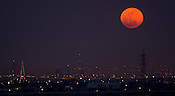 The super moon on the 6th May 2012, where it was 357,047km from Earth, appearing 14% larger.