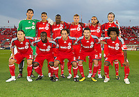 17 August 2010:  Toronto FC starting eleven during a CONCACAF Champions League group stage game between Cruz Azul and Toronto FC at BMO Field in Toronto.....