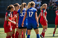Seattle, WA - Saturday, August 26th, 2017: Allie Long during a regular season National Women's Soccer League (NWSL) match between the Seattle Reign FC and the Portland Thorns FC at Memorial Stadium.