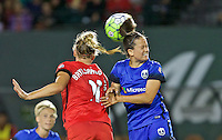Portland, OR - Saturday July 30, 2016: Dagny Brynjarsdottir, Lauren Barnes during a regular season National Women's Soccer League (NWSL) match between the Portland Thorns FC and Seattle Reign FC at Providence Park.