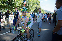 Simon Gerrans (AUS/Orica-GreenEDGE) coming in after finishing 5th<br /> <br /> 2014 Tour de France<br /> stage 11: Besan&ccedil;on - Oyonnax (187km)