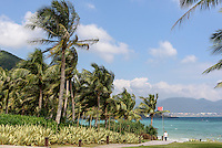 Strand des Hotel Park Hyatt Sanya, Sunny Bay Resort auf der Insel Hainan, China<br /> Beach of Hotel Park Hyatt Sanya, Sunny Bay Resort, Hainan island, China