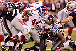 New York Giants running back Ahmad Bradshaw (44) carries the ball during the NFL Super Bowl XLVI football game against the New England Patriots on Sunday, Feb. 5, 2012, in Indianapolis. The Giants won 21-17 (AP Photo/David Stluka)...