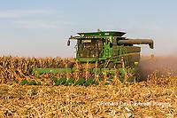 63801-08015 Corn Harvest John Deere combine Marion Co. IL