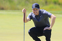 Harry Ellis (AM)(ENG) on the 14th green during Thursday's Round 1 of the 118th U.S. Open Championship 2018, held at Shinnecock Hills Club, Southampton, New Jersey, USA. 14th June 2018.<br /> Picture: Eoin Clarke | Golffile<br /> <br /> <br /> All photos usage must carry mandatory copyright credit (&copy; Golffile | Eoin Clarke)