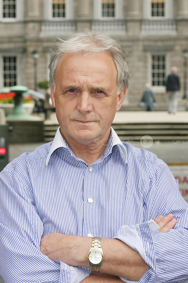 "NO REPRO FEE. 15/9/2010. John J. May launches his controversial book ""The Origin of Specious Nonsense"" outside the Dail in Dublin. The launch will then commences at 7pm in Buswells hotel where he delivers his talk: ""How evolution made monkeys out of man"" Picture James Horan/Collins Photos"