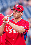 22 May 2015: Philadelphia Phillies outfielder Jeff Francoeur awaits his turn in the batting cage prior to a game against the Washington Nationals at Nationals Park in Washington, DC. The Nationals defeated the Phillies 2-1 in the first game of their 3-game weekend series. Mandatory Credit: Ed Wolfstein Photo *** RAW (NEF) Image File Available ***