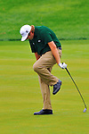 29 August 2009: Steve Marino reacts to his approach shot during the third round of The Barclays PGA Playoffs at Liberty National Golf Course in Jersey City, New Jersey.