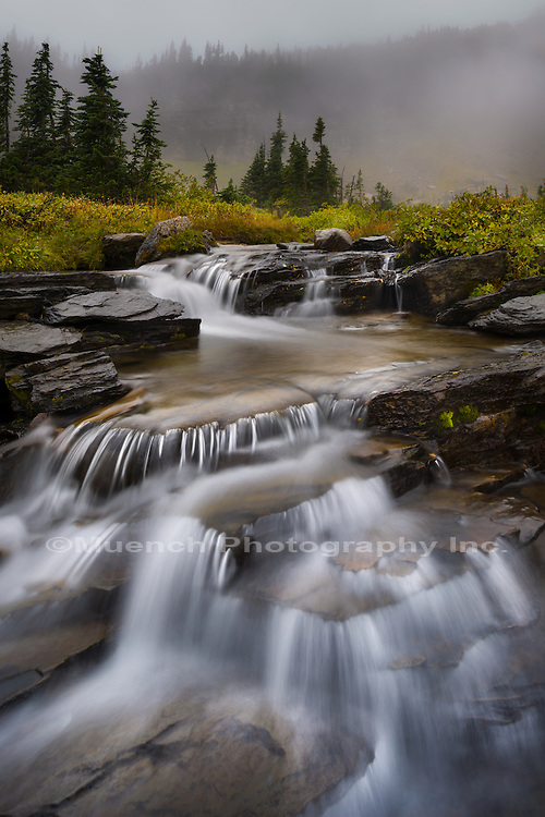 Waterfall, Logan Pass, Glacier National Park, Montana