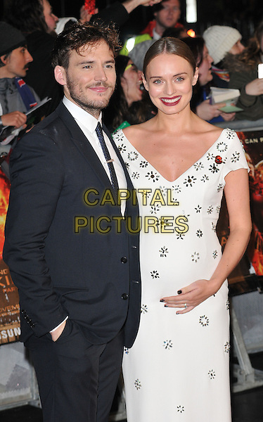 Sam Claflin &amp; Laura Haddock attend the , Odeon Leicester Square, Leicester Square, London, England, UK, on Thursday 05 November 2015. <br /> CAP/CAN<br /> &copy;CAN/Capital Pictures
