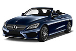 2017 Mercedes Benz C-Class AMG-Line 2 Door convertible Angular Front stock photos of front three quarter view