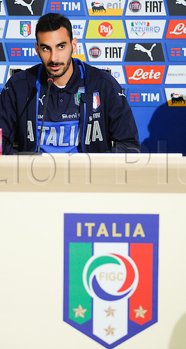 20.05.2016. Florence, Italy. The mens Italian Football team press conference.   Davide Zappacosta (Torino)