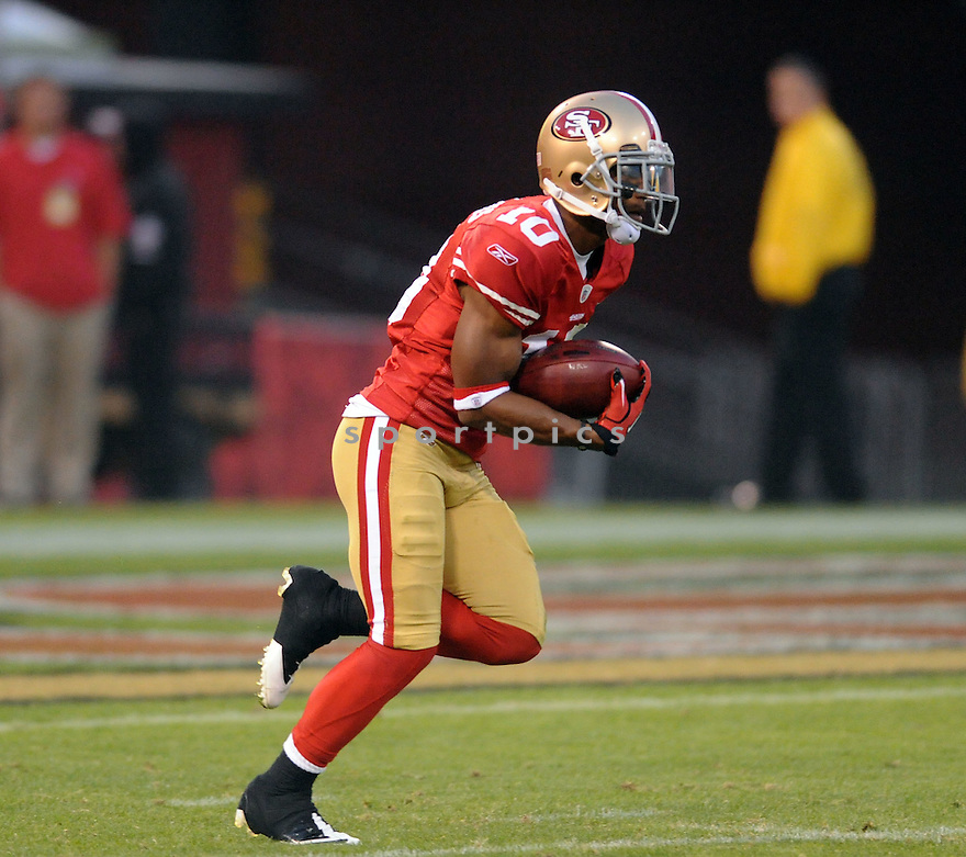 KYLE WILLIAMS, of the San Francisco 49ers, in actions during the 49ers game against the Houston Texans on August 27, 2011 at Candlestick Park in San Francisco, California. Houston beat San Francisco 30-7.