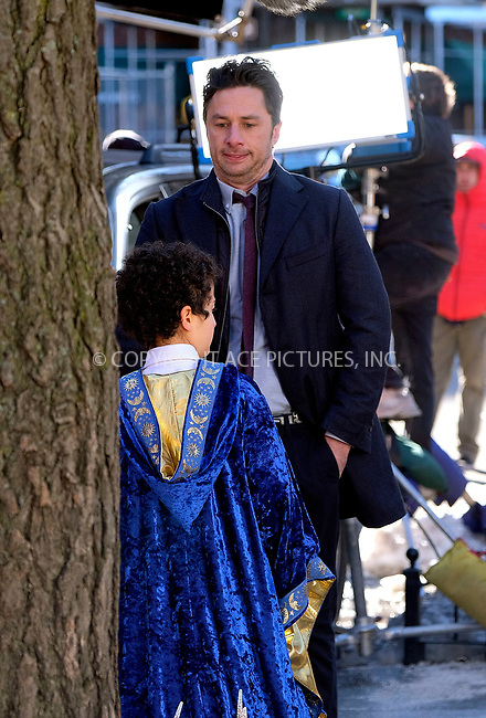 www.acepixs.com<br /> <br /> March 22 2017, New York City<br /> <br /> Actor Zack Braff was on the set of the new movie 'Start Up' on March 22 2017 in New York City<br /> <br /> By Line: Curtis Means/ACE Pictures<br /> <br /> <br /> ACE Pictures Inc<br /> Tel: 6467670430<br /> Email: info@acepixs.com<br /> www.acepixs.com