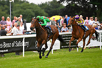 Winner of The Dee Wilks Against The Odds Confined Novice Stakes (Div 2) Smooth Sailing ridden by Oisin Murphy and trained by Charles Hills  during Afternoon Racing at Salisbury Racecourse on 12th June 2018