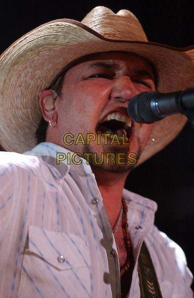 JASON ALDEAN.2007 CMA Music Festival held at LP Field, Nashville, Tennessee , USA, 08 June 2007..country live on stage concert  portrait headshot straw cowboy hat .CAP/ADM/LF.©Laura Farr/AdMedia/Capital Pictures.