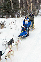 Jason Barron w/Iditarider on Trail 2005 Iditarod Ceremonial Start near Campbell Airstrip Alaska SC