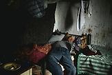 Mihail, Berufsfischer, in einer der Unterkünfte im Delta, die Fischer verbringen dort meistens zwei Wochen, dann werden sie von einem anderen abgelöst, Sulina, Rumänien, 2015 / Mihail, fisher man, in one of the shelters at the delta. The fisher men spent mostly two weeks there until another one supersedes them. Sulina, Romania, 2015