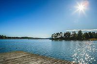 Brygga i Östnora Haninge Stockholms skärgård. / Stockholms archipelago Sweden.