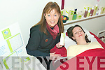Tranquil Therapy: Beauty therapist at the Beauty Room in Listowel Caroline Lyons treating Deirdre McElligott to a special facial.