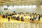 VOTES: The sparsely attended election count at the Aura Sports Centre in Killarney on Friday.