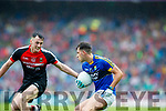 Jack Savage Kerry in action against Diarmuid O'Connor Mayo in the All Ireland Semi Final in Croke Park on Sunday.