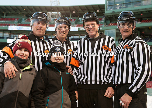 Tim Benedetto, Pat Turcotte, Jack Millea, Chris Aughe - The Boston University Terriers defeated the University of Massachusetts Minutemen 5-3 on Sunday, January 8, 2017, at Fenway Park in Boston, Massachusetts.The Boston University Terriers defeated the University of Massachusetts Minutemen 5-3 on Sunday, January 8, 2017, at Fenway Park.