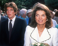 John Kennedy Jr. Jackie Kennedy 1980<br /> Photo By John Barrett/PHOTOlink.net