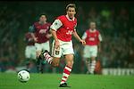 Paul Merson of Arsenal - Barclays Premier League - Aston Villa v Arsenal - Villa Park Stadium - Birmingham - England - 2nd December 1995 - Picture Simon Bellis/Sportimage