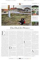 DIE ZEIT (German weekly) on Nobel prize winner in literature, Hertha Mueller, Romania, 2009.10.15. Photographer: Martin Fejer