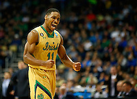 PITTSBURGH, PA - MARCH 21: Demetrius Jackson #11 of the Notre Dame Fighting Irish celebrates a turnover against the Butler Bulldogs in the second half during the third round of the 2015 NCAA Men's Basketball Tournament at Consol Energy Center on March 21, 2015 in Pittsburgh, Pennsylvania.  (Photo by Jared Wickerham/Getty Images)