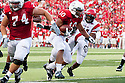 26 September 2009: Nebraska running back Roy Helu Jr. rushes for a touch down in the  third quarter against Louisiana-Lafayette at Memorial Stadium, Lincoln, Nebraska. Nebraska defeats Louisiana Lafayette 55 to 0.