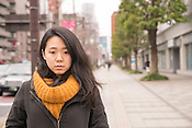 A young Japanese lady in Tokyo.