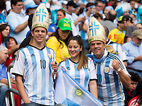 Argentina fans dressed as the pope