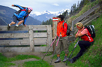 Rauris, Salzburgerland, Austria, May 2006. Trekking the alms means lots of good mountain life, wallking and good food. Photo by Frits Meyst/Adventure4ever.com