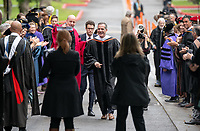 Eric Garcetti, Mayor of the city of Los Angeles<br /> Families, friends, faculty, staff and distinguished guests celebrate the class of 2019 during Occidental College's 137th Commencement ceremony on Sunday, May 19, 2019 in the Remsen Bird Hillside Theater.<br /> (Photo by Marc Campos, Occidental College Photographer)