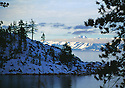 Lake Tahoe Winter Shoreline Mountain Landscape