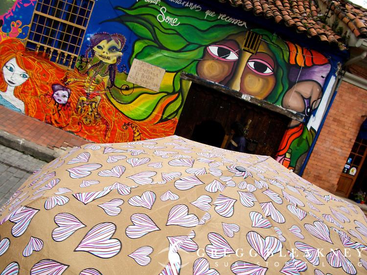 Street Scene in the Candelaria - Bogota - Colombia