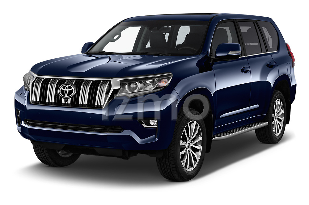 2018 Toyota Land-Cruiser-150 Premium 5 Door SUV Angular Front stock photos of front three quarter view