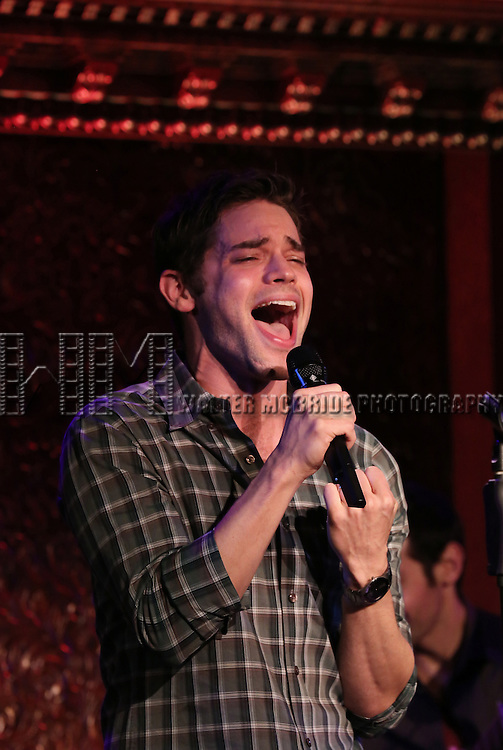 Jeremy Jordan performs 'Breaking Character' at 54 Below on November 12, 2014 in New York City.