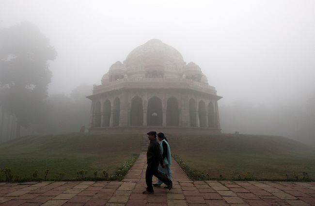 The Lodhi Gardens in New Delhi are possibly the most beautiful in the city; a magnet for families, young lovers, joggers and a variety of snake charmers, chai wallahs and ordinary Delhiwallahs who come to take their morning constitutional and practise yoga. New Delhi 12/2/09