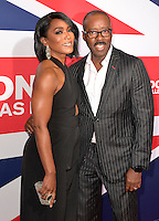 "01 March 2016 - Hollywood, California - Angela Bassett, Courtney B. Vance. ""London Has Fallen"" Los Angeles Premiere held at ArcLight Cinemas Cinerama Dome. Photo Credit: Koi Sojer/AdMedia"